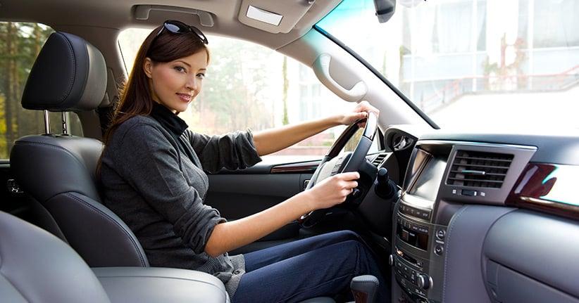 Im Auto richtig sitzen hält fit