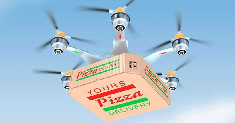 Neuseeland – Pizzadrohnen liefern Pizza nach Hause