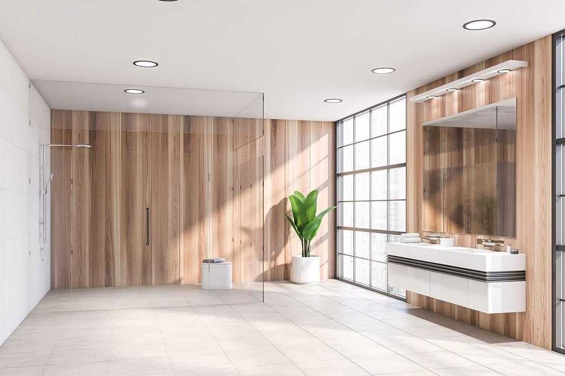 Die richtige Badbeleuchtung setzt das Bad in Szene